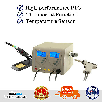 DOSS ZD917 soldering desoldering station 2in1 Dual LCD display Screen
