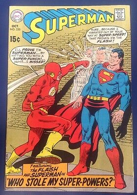 Superman #220 (1969) Guest-Starring The Flash.