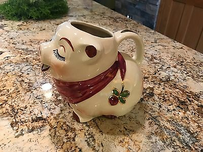 Shawnee Pottery Gold Cloverbud Milk Pitcher Hard To Find