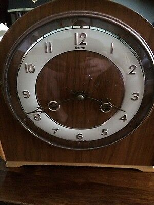 andrews oak mantle clock