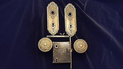 Antique Bronze Victorian Door Knob set.