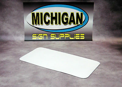 """Matte White .030 x 12"""" x  24"""" Magnetic Sign Blank for Vehicle Advertisements"""