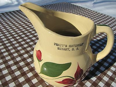 Watt Oven Ware Pitcher 15 Pratt's Hatchery Bryant S.d. South Dakota Star Flower