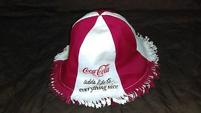 Vintage 1970s reversible coca-cola canvas beach hat-never worn-Extremely Rare
