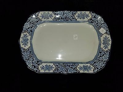 "Antique China Wood & Sons Khotan Semi-Porcelain 16"" Platter Dish"