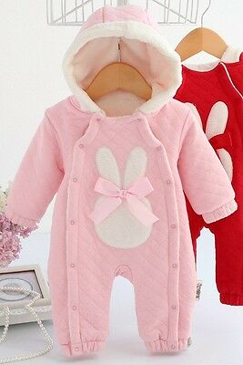 Baby Girl Pink Fur Lined All In One Suit 0-3 3-6 6-9 9-12 Months BNWT