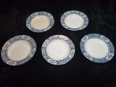 "Antique China Wood & Sons Khotan Semi-Porcelain 10"" Bowls"