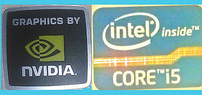 NEW Intel inside Core i5 + Nvidia WINDOWS computer 8 sticker PC 10 Genuine 7