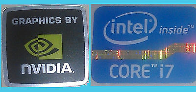 NEW Intel inside Core i7 + Nvidia WINDOWS computer 8 sticker PC 10 Genuine 7