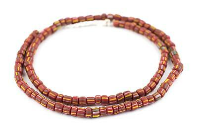 Ghana Red Java Gooseberry Beads 5mm Indonesia Round Glass 25 Inch Strand