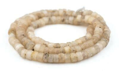 Ancient Dogon Quartz Stone Beads 11mm Mali African Brown Cylinder Large Hole