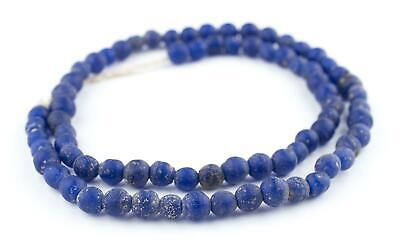 Cobalt Blue Ancient Style Java Glass Beads 9mm Indonesia Round Large Hole