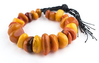 African Moroccan Resin Chunk Beads (Vintage Amber) Morocco