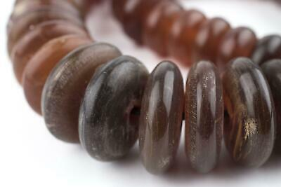Translucent Amber Horn Disk Beads (Graduated)