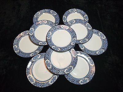 "Antique China Wood & Sons Khotan Semi-Porcelain 8"" Plates"