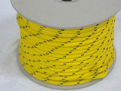Double Braid Polyester Halyard control sheet line 5/16x200 feet gold winch rope