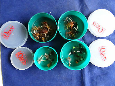 4 Orvis Fly Tubs And Flies