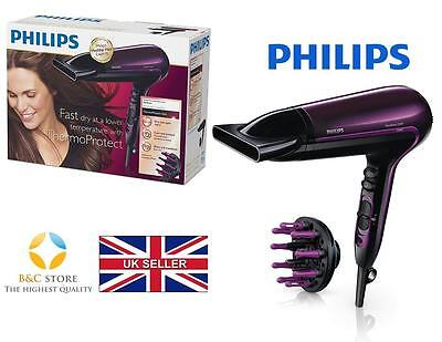 !NEW Philips HP8233/00 Thermo Protect Ionic Hairdryer Cool Shot 2200W Hair Dryer