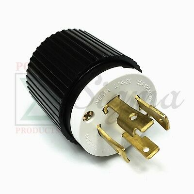 NEMA L14-30P UL Listed Male Locking Generator Plug 30A 125/250V 3 Pole 4 Wires