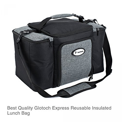 Meal Prep Insulated Lunch Box Fitness Bag Portion Control Size Large Black  New 78e56f0a18685