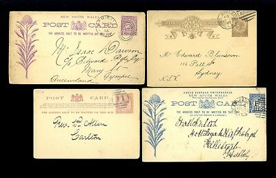 4 Australia Postal Cards Victoria New South Wales NSW Exchange South Old Lot D93