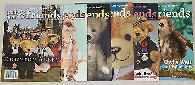 Teddy Bear And Friends Magazine, set of 6 issues from 2014.
