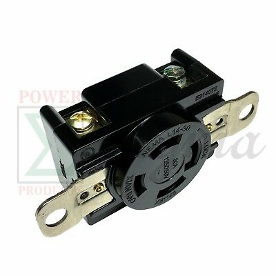 NEMA L14-30R 30A 125V/250V Twist Locking Electrical Plug Female Wall Receptacle