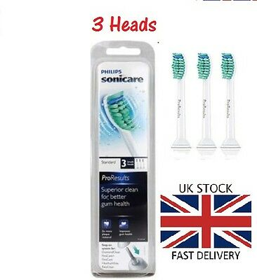 3 x Philips Sonicare ProResults Replacement Toothbrush Heads HX6013