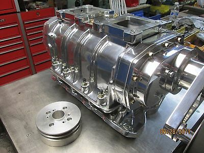 New complete Blower kit 871 show polished 351 Cleveland Ford 8-71 Supercharger