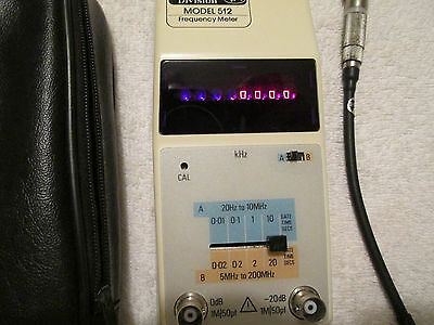 OK Electronics Division      Model 512      Frequency Meter    w/ Case & Antenna