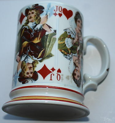 Vintage Playing Card Mug Germany Marked Nice Unusual