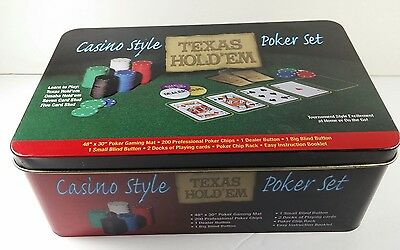 Casino Style Poker Set 200 professional poker chips