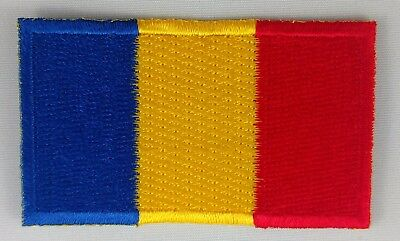 Romania Flag Patch Embroidered Iron On Applique Romanian