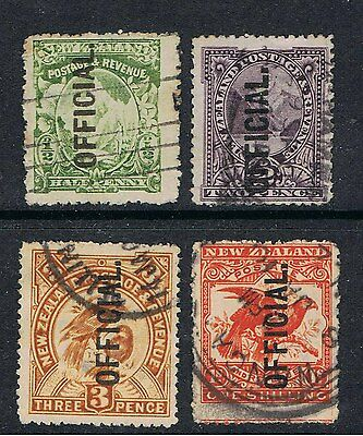 New Zealand 1907 Stamps Of 1902 - 07 Overprinted Official