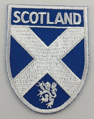 Scotland Shield Crest Patch Embroidered Iron On Applique Scottish St. Andrew