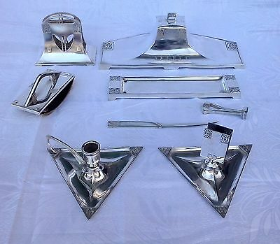 Wonderful WMF Art Nouveau Complete Silver DESK SET 8 Pieces No 120, circa 1910
