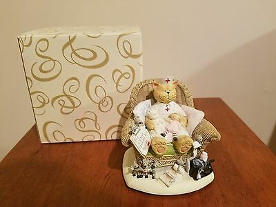 San Francisco Music Box Nurse Cat Figurine Spoonful of Sugar Mice Stethoscope