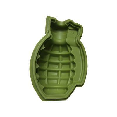 Grenade Shape 3D Ice Cube Mold Maker Bar Party Silicone Trays Mold  Tool Gift AC
