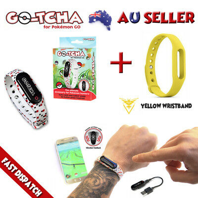 Gotcha For Pokemon Go Auto Catch & Spin + Yellow Wristband Instinct New Gotcha