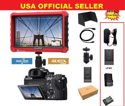 """LILLIPUT 7""""  Model  A7s 4K HDMI 1.4 30Hz Field Monitor W/LP-E6 Battery + Charger"""