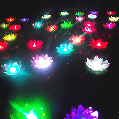 10 PCS Colorful  LED Light Flower Lotus Waterproof Swimming Pool Spa Bath Party