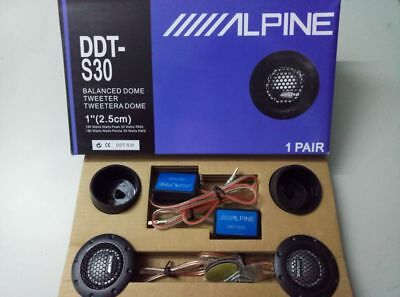 "360W ALPINE DDT-S30 25MM 1"" Soft Dome Balanced Car Speakers Tweeters 1 Pair"