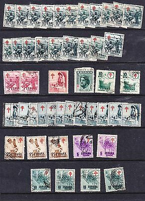 Spain 1949-52 Anti TB  Issues   Used