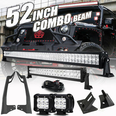 "Mount Bracket Fit For Jeep Wrangler JK 52"" 700W+22"" 280W+4"" 18W LED Light bar 50"