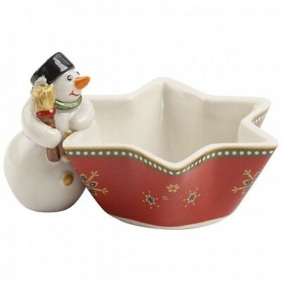 Villeroy & Boch Nostalgic Snowman Tea Light Holder. Brand New in Box