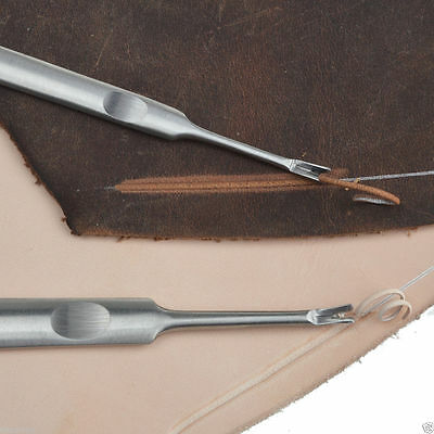 Stitching Groover Skiving Edge Beveler Leather craft Skiver Hand DIY Tools New