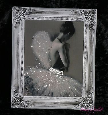 Angel Ballerina Sparkle Glitter picture, Shabby Chic Framed or Canvas! Any Size