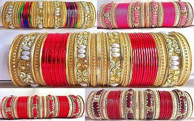 TRADITIONAL WEDDING CHURA Red Color Bangle Jewelry Indian Bollywood