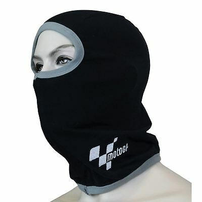 Official MotoGP Thermal Motorcycle Balaclava Motorbike Scooter Cotton Black New