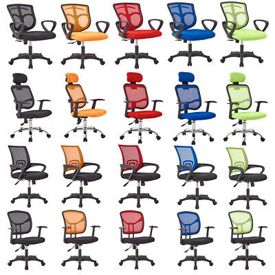 Mesh Fabric Swivel Task Chair Adjustable High Computer Desk Furniture Multicolor